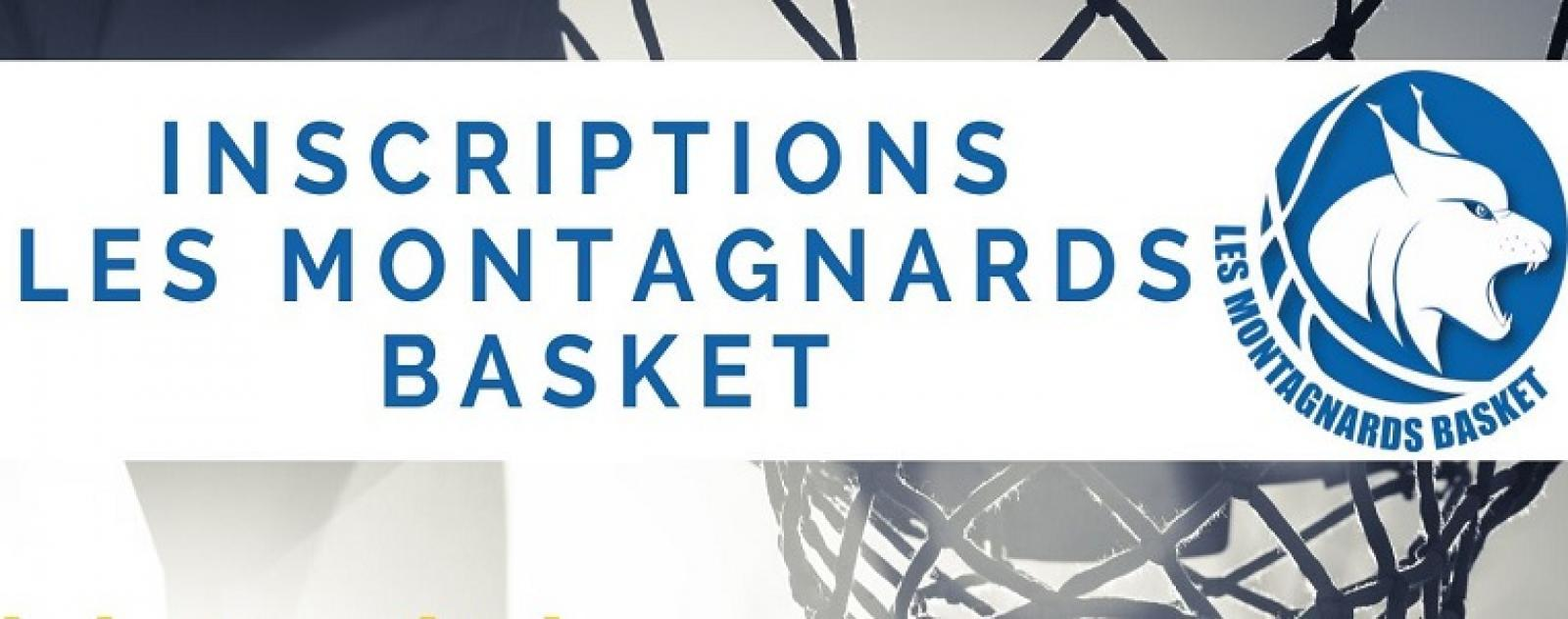 (Re) inscription 2020/2021 aux Montagnards Basket
